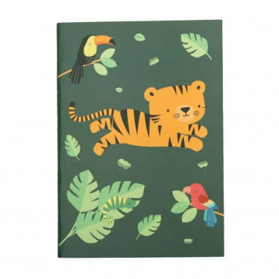 """A little lovely company Σημειωματάριο A5 """"Jungle tiger""""  STNBJT04"""