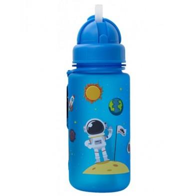 AlpinTec Παγούρι Kids 400Ml Space - Διάστημα Με Καλαμάκι Μπλε C-400BE-2