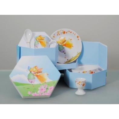 Cryspo Trio Παιδικό Σερβίτσιο Φαγητού 5τμχ. Πορσελάνη Fairy 28158790
