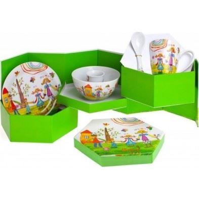Cryspo Trio Παιδικό Σερβίτσιο Φαγητού 5 Τεμαχίων 'FAMILY' 28318090