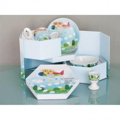 Cryspo Trio Παιδικό Σερβίτσιο Φαγητού  Πορσελάνη Airplane  28152990