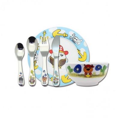 """Cryspo Trio  Παιδικό Σετ Φαγητού Πορσελάνινο ''Πειρατές"""""""