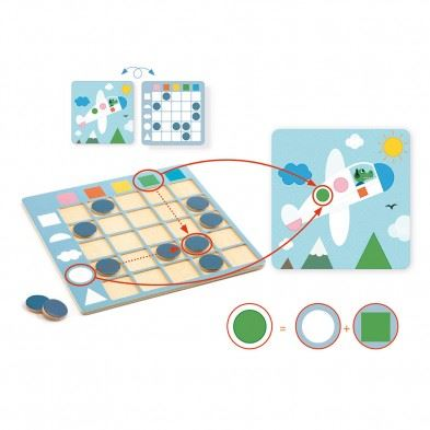 Djeco Colorformix εκπαιδευτικό παιχνίδι 'Χρώματα και Σχήματα'  08351