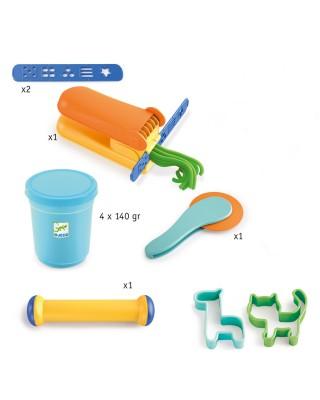 Djeco Σετ από 4 Πλαστοζυμαράκια και 15 Εργαλεία 09020