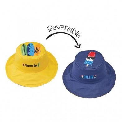 FlapJackKids Καπέλο Διπλής Όψης UPF 50+ Surfer/Popsicle (Cotton) LUV0148