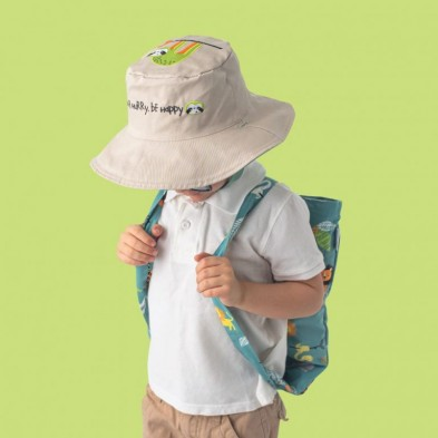 FlapJackKids  Καπέλο Διπλής Όψης UPF 50+ – Λιονταράκι (Cotton) FJKSH515