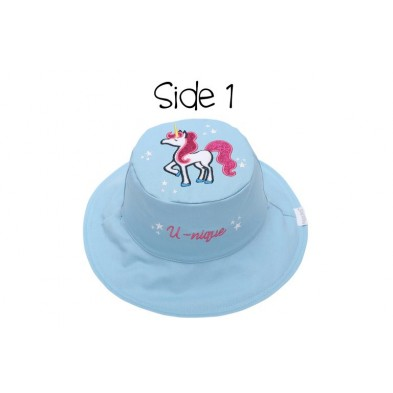 FlapJackKids  Καπέλο Διπλής Όψης UPF 50+ – Μονόκερος (Cotton) FJKSH49