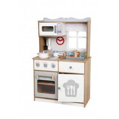 Gerardos Toys Κουζίνα ξύλινη Scarlet με 14 αξεσουάρ GΤ63011