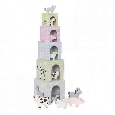 Jabadabado Στοιβαζόμενοι κύβοι με ζωάκια JB-C2504