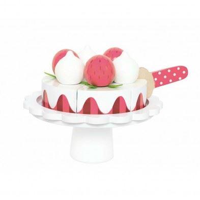 Jabadabado Ξύλινη Τούρτα με μαρέγκες και φράουλες JB-W7162