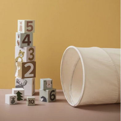 Kids Concept  Υφασμάτινο τούνελ παιχνιδιού 150εκ (λευκό)