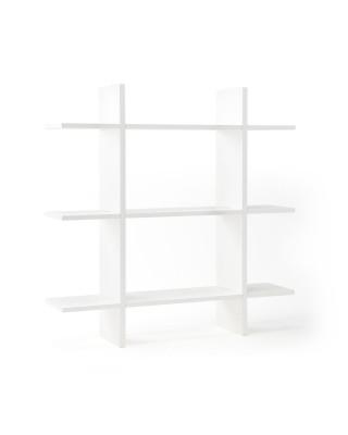 Kids Concept Ξύλινο επιτοίχιο ράφι 3 επιπέδων (λευκό) ΚC1000438