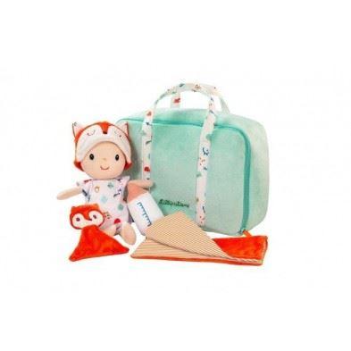 Lilliputiens  Υφασμάτινο μωράκι Άλεξ με τσάντα μεταφοράς & αξεσουάρ  LΙ83093