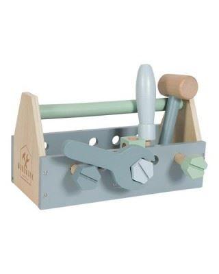 Little Dutch Ξύλινη εργαλειοθήκη με 20 εργαλεία LD4434