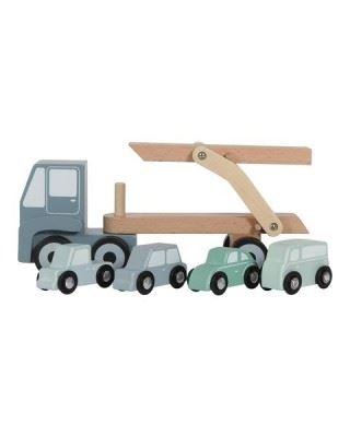 Little Dutch  Ξύλινο φορτηγό με αυτοκινητάκια LD4453