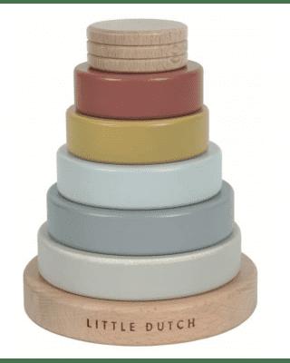 Little Dutch  Ξύλινη πυραμίδα ταξινόμησης Pure & Nature (πολύχρωμο)  LD4703