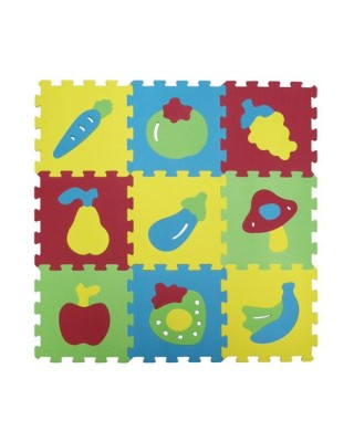Ludi Δάπεδο ασφαλείας EVA 'Φρούτα' 86.5χ86.5χ0.9 εκ. 1052