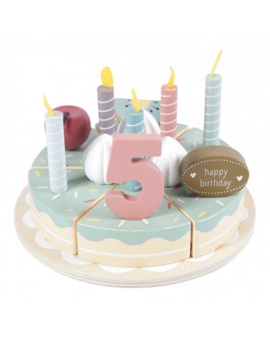 Little Dutch  Ξύλινη τούρτα με κεράκια XL LD4494
