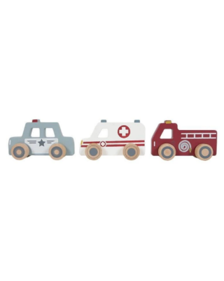 LITTLE DUTCH Σετ ξύλινων 3 οχημάτων LD4388