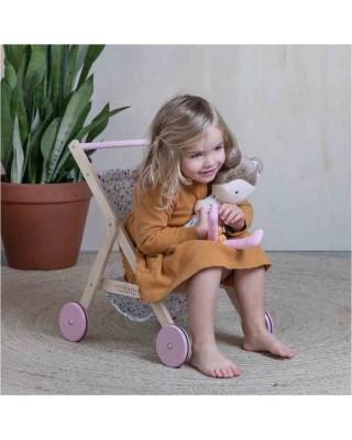 Little Dutch Ξύλινο καρότσι για κούκλες Spring Flowers LD4441