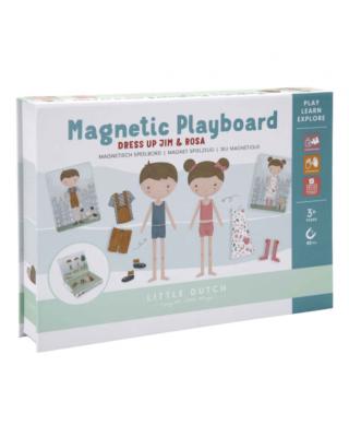 LITTLE DUTCH Μαγνητικό παιχνίδι σύνθεσης εικόνων σε κασετίνα Jim & Rosa
