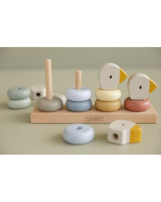 Little Dutch Ξύλινο παιχνίδι στοίβαξης με αρίθμηση Little Goose LD7074