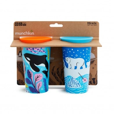 Munchkin 2 Miracle 360° Deco Sippy Cups 266ml -Πολική αρκούδα/Όρκα 51766