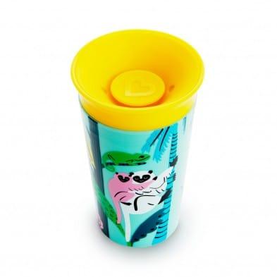 Munchkin 2 Miracle 360° Deco Sippy Cups 266ml - Λεμούριος και Μέλισσα 51765