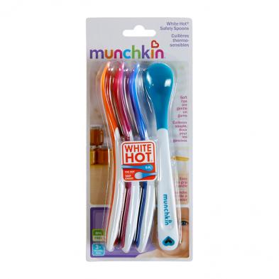 Munchkin  Σετ 4 Κουταλάκια με Σύστημα White Hot® 11522