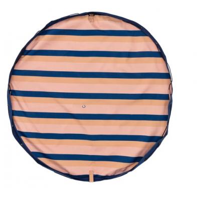 Play and Go Στρώμα παιχνιδιού - τσάντα 2 σε 1. Outdoor Mokka Stripes ΡG301275