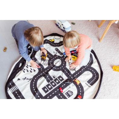 Play and Go Στρώμα παιχνιδιού - τσάντα 2 σε 1 Roadmap ΡG799729