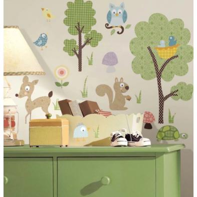"""Room Mates Αυτοκόλλητα τοίχου """"Ζώα του δάσους"""" RΜΚ1398"""