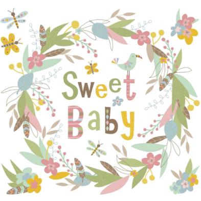 "Room Mates Αυτοκόλλητα τοίχου ""Sweet baby"" RΜΚ3544"
