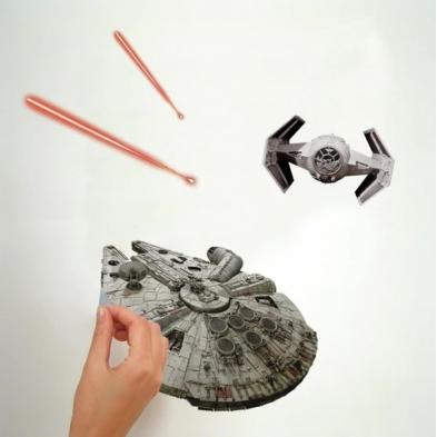 "Room Mates Αυτοκόλλητα τοίχου ""Star Wars διαστημόπλοια"" RΜΚ3012"
