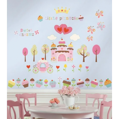 "Room Mates  Αυτοκόλλητα τοίχου ""Cupcake Land"" RΜΚ1605"