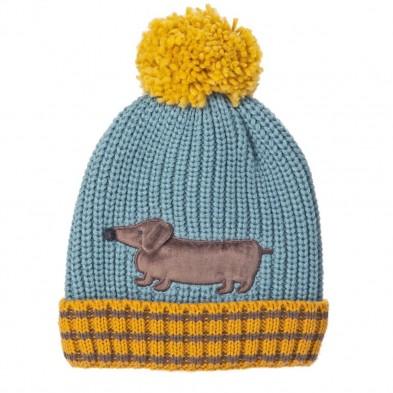 Rockahula Πλεκτό καπέλο Σκύλος  Morris Sausage  3-6 ετών (τυρκουάζ) T1664B