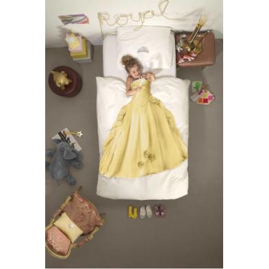 SNURK Κλινοσκέπασμα Πριγκίπισσα 140Χ200 - 50Χ70 (κίτρινο) SΝ-ΡRΙΝC1402005070ΥΕL