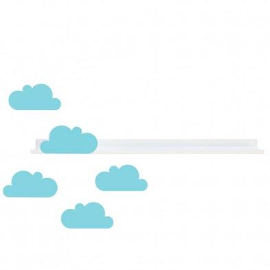 Tresxics Ράφι τοίχου μεγάλο & αυτοκόλλητα συννεφάκια (γαλάζιο) ΤRΕS194
