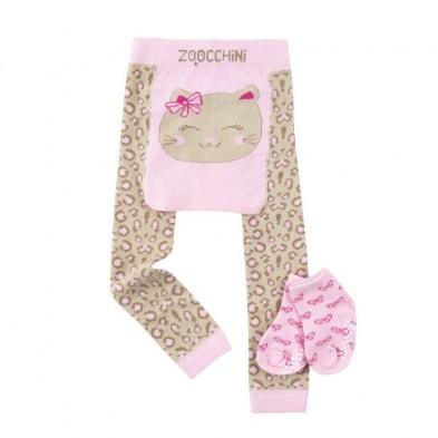 "Zoocchini  Σετ Ρούχων για Μπουσούλισμα Grip+Easy Crawler Pants & Socks Set  "" Flippy the Frog"" ZOO12513"