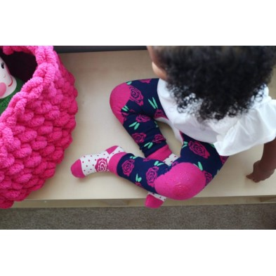 "Zoocchini  Σετ Ρούχων για Μπουσούλισμα Grip+Easy Crawler Pants & Socks Set  "" Bella the Bunny"" ZOO12506"
