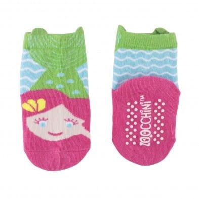 "Zoocchini  Σετ Ρούχων για Μπουσούλισμα Grip+Easy Crawler Pants & Socks Set ""Γοργόνα""   ZOO12505"